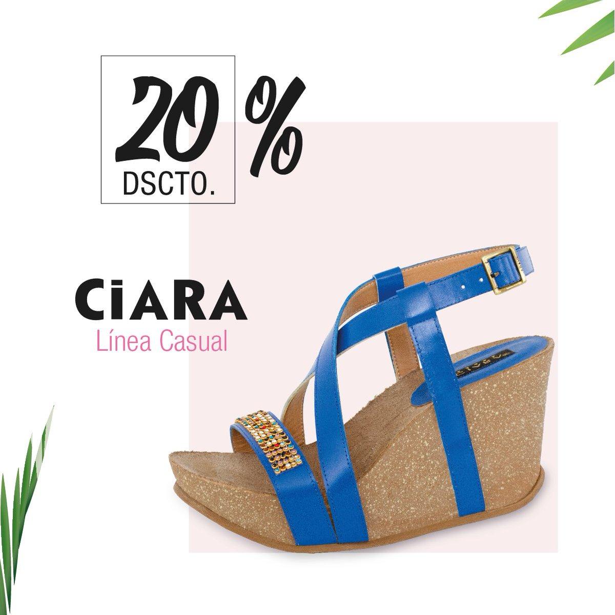 Azul de temporada en #CiaraCalzados 20% DE DESCUENTO hasta agotar Stock en todas nuestras tiendas. #DescuentosDeVerano 😊 😍