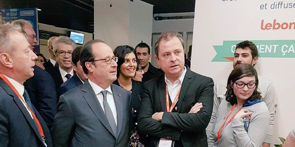 Schibsted's @leboncoin proud to share thoughts with President @fhollande  at #salondesentrepreneurs in Paris.  http:// bit.ly/2k3tufc    <br>http://pic.twitter.com/11G6FFSeRl