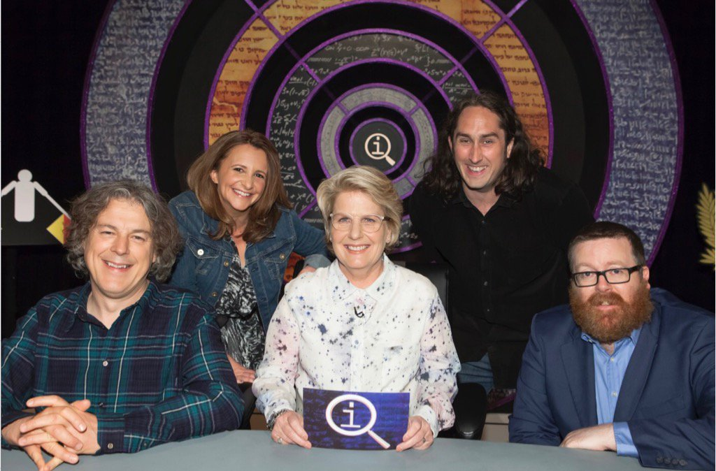 RT @sanditoksvig: Here is me and a delightfully motley crew for tonight's #QI. Please watch BBC 2 1O pm https://t.co/dc8epoNtUw