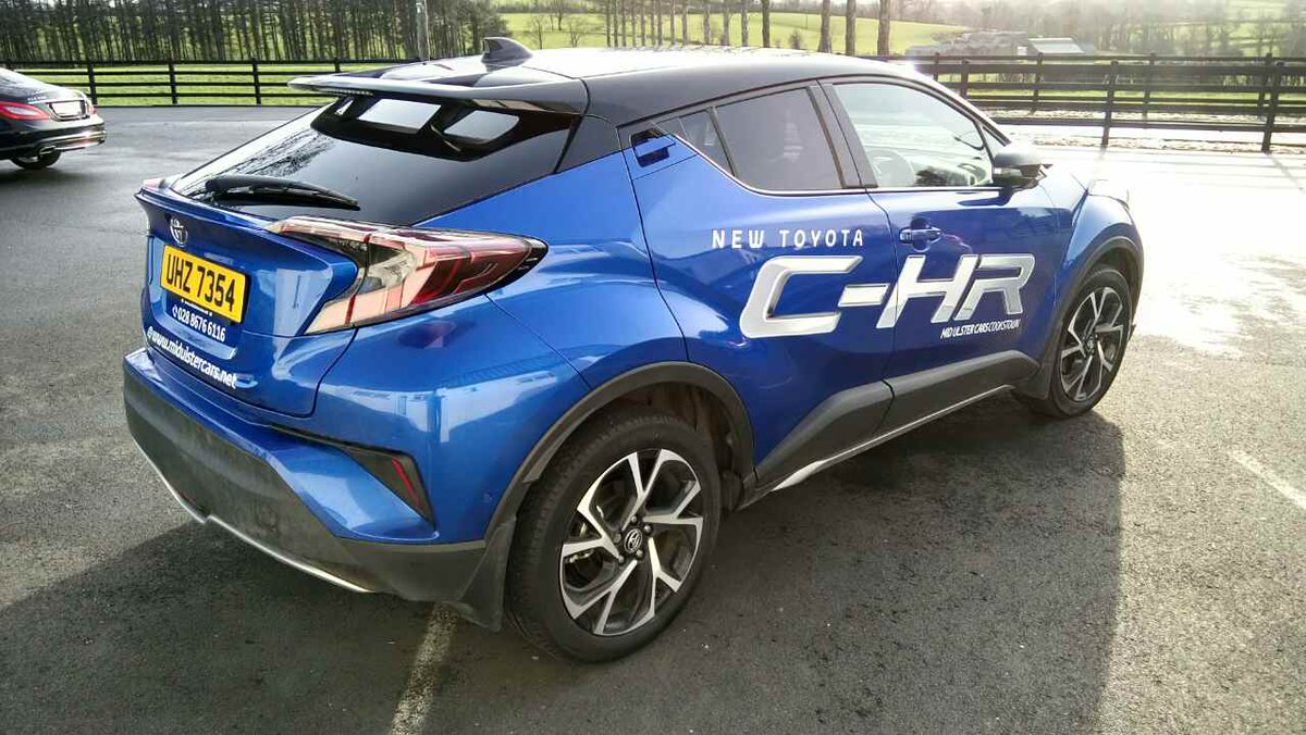 gortreagh printing on twitter toyota c hr graphics for midulstercars awesome car vinyl. Black Bedroom Furniture Sets. Home Design Ideas