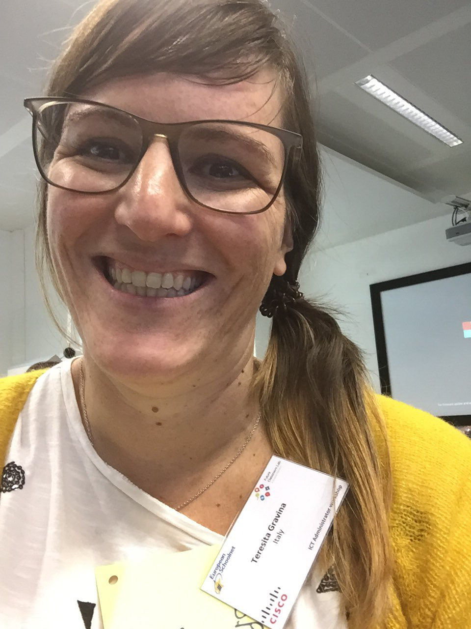 """Workgroup: guess it is the spike """"yellow"""" person #AllSTEMScientix #fcl_eun https://t.co/axEj0lzzJ4"""