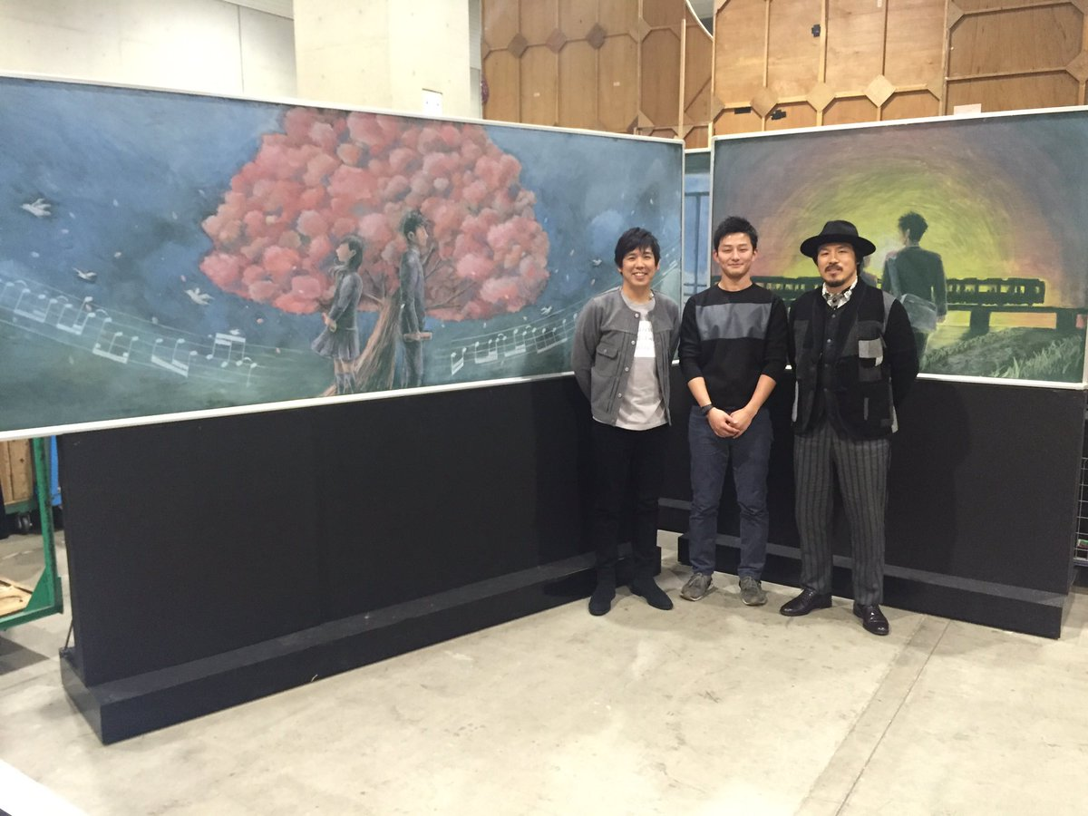 Mステ終了! 映画「一週間フレンズ。」で黒板アートを手掛けた三好修平さんに今回のために描いて頂きまし…