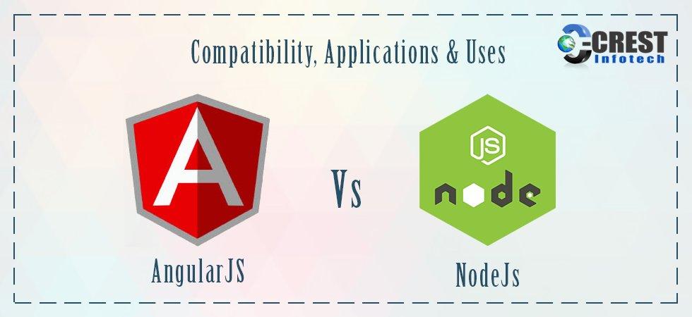 AngularJS V/S Node.js : Compatibility, Applications & Uses
