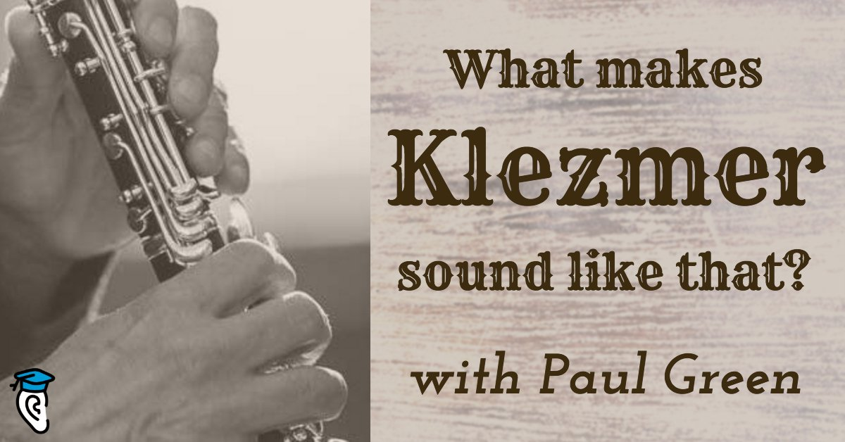 Were did #Klezmer #music come from? #Clarinetist Paul Green answers that question in this interview:  http:// eartra.in/klzmrpaulg2  &nbsp;   #eartraining<br>http://pic.twitter.com/0FneYJgjml