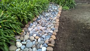 Beautifying an infiltration trench