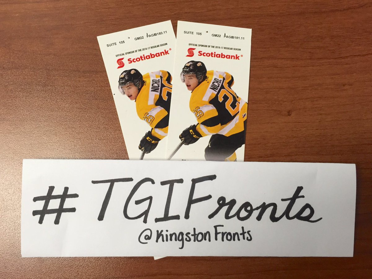 In the spirit of #FebFest we're giving away 2 tickets to tonight's game! Follow + RT for a chance to win! #TGIFronts https://t.co/qK09b8sRvO