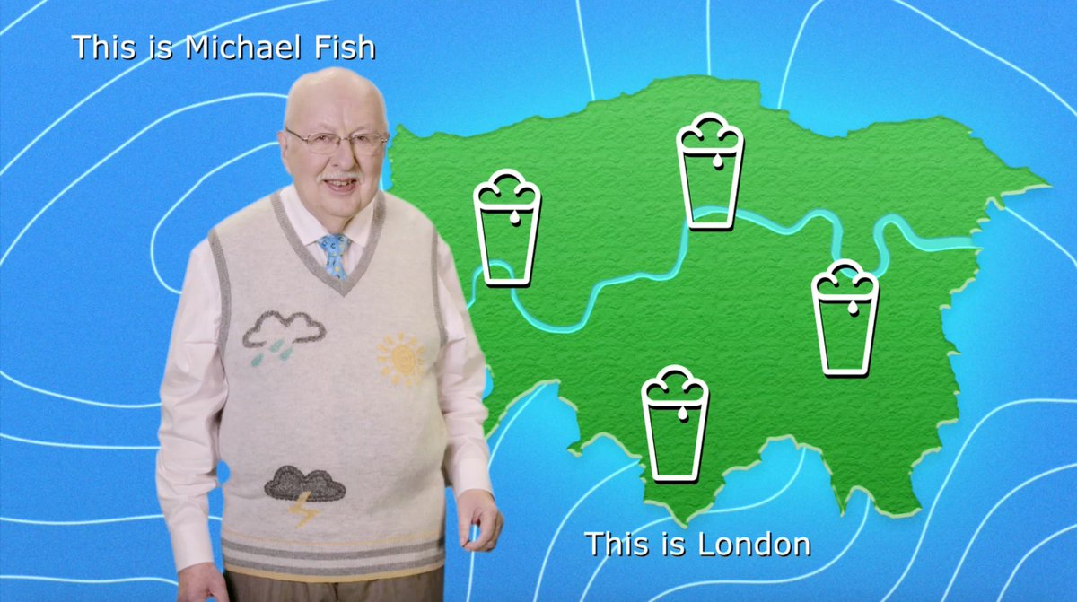 And now over to Michael Fish for a very special weather report. #WhenItRainsItPours https://t.co/nVyEtJOout