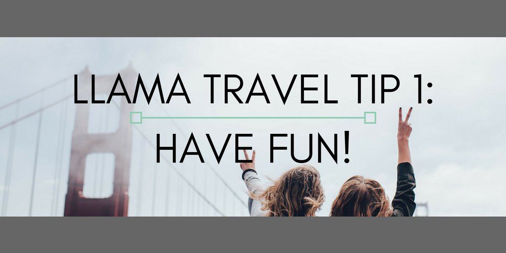 Llama travel tip 1: Remember to have a fun, even on work trips. Bond w/teammates over adventures! #CMGRHangout #CMGR #travel https://t.co/DQd6Vt8lHs