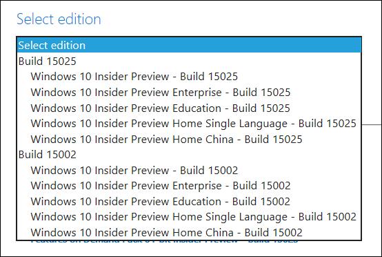 Descarga ya las Imágenes ISO de Windows 10 Build 15025