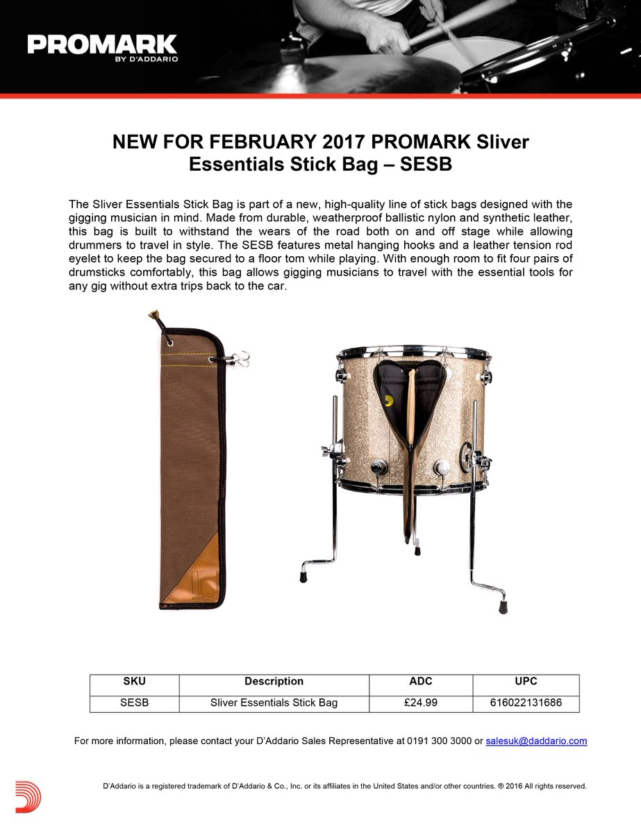 Promark Sliver Essentials Stick Bag