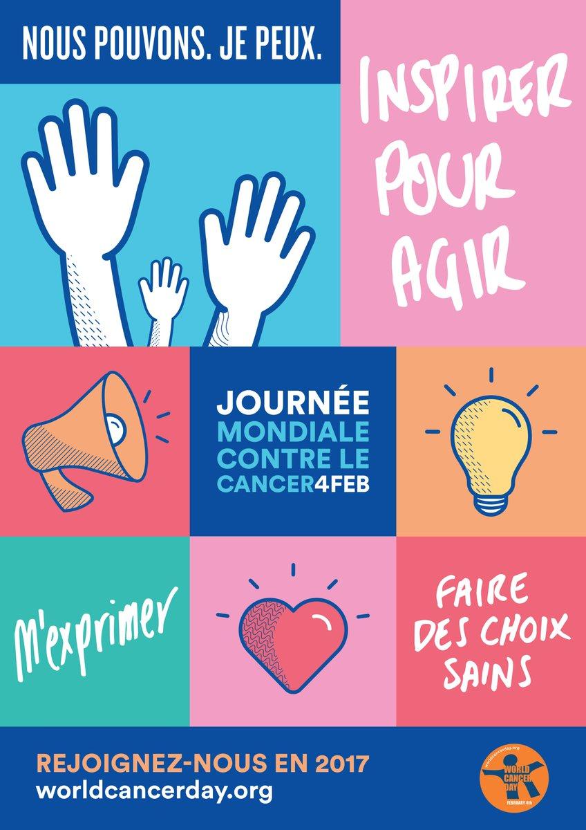 Le 4 février est la #JournéeMondialeContreLeCancer. #NousPouvonsJePeux agir pour prévenir et combattre le cancer: https://t.co/7kjzguxCgl