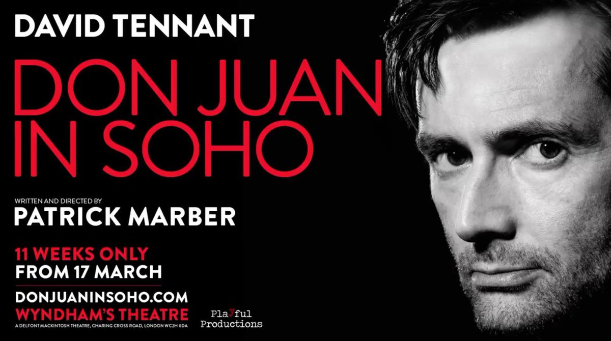 David Tennant on the Don Juan In Soho banner