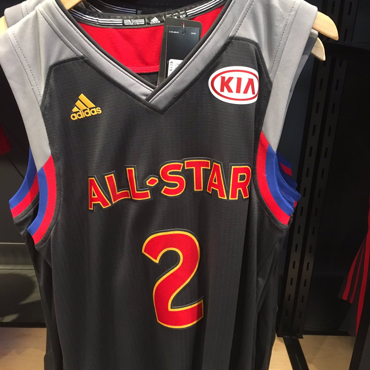 mcmenamin the all star jerseys being sold retail at the. Black Bedroom Furniture Sets. Home Design Ideas