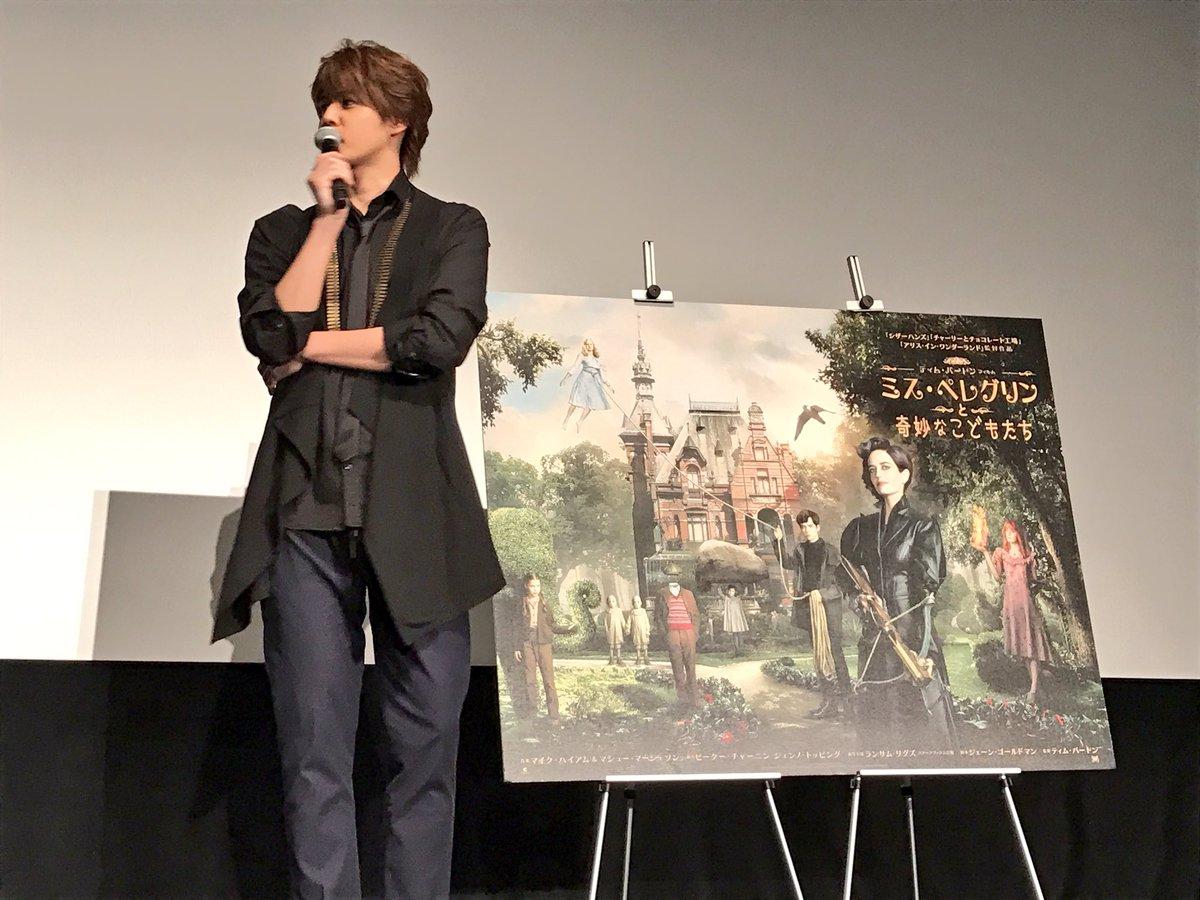 MC:「ティム・バートン作品の魅力を教えて下さい」  宮野さん「不思議な世界館、心が引き込まれると…