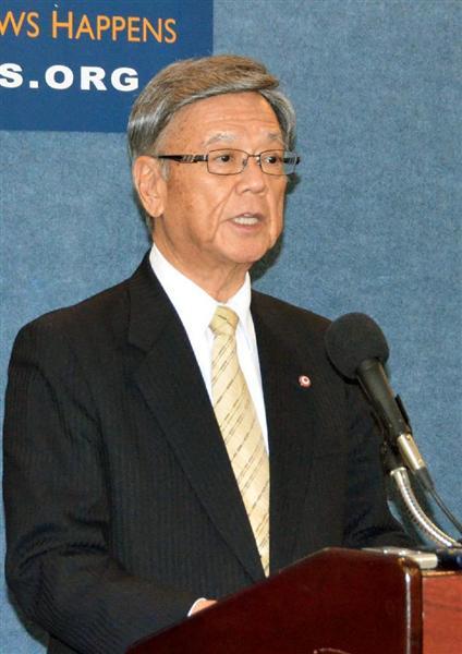 翁長沖縄県知事、自らの訪米中に安倍・マティス氏の合意は「失礼」と批判 sankei.com/worl…