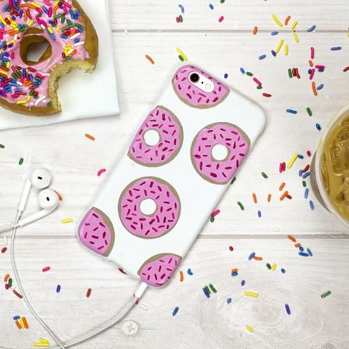 Pink Sprinkled Donut Phone Case