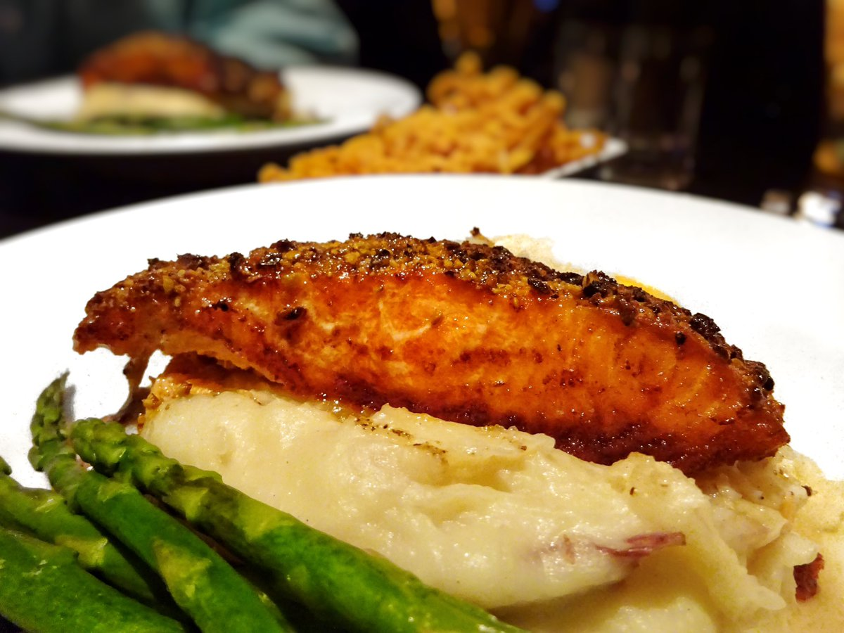 Twitter post: RT @aj_alzuhari: Pistachio crusted salmon – maple butter,…Read more. Opens full post in an overlay