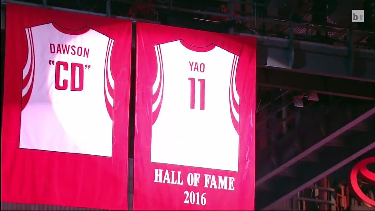 check out 99acd c2134 The Houston Rockets Retire Yao Ming's Jersey | Baaz
