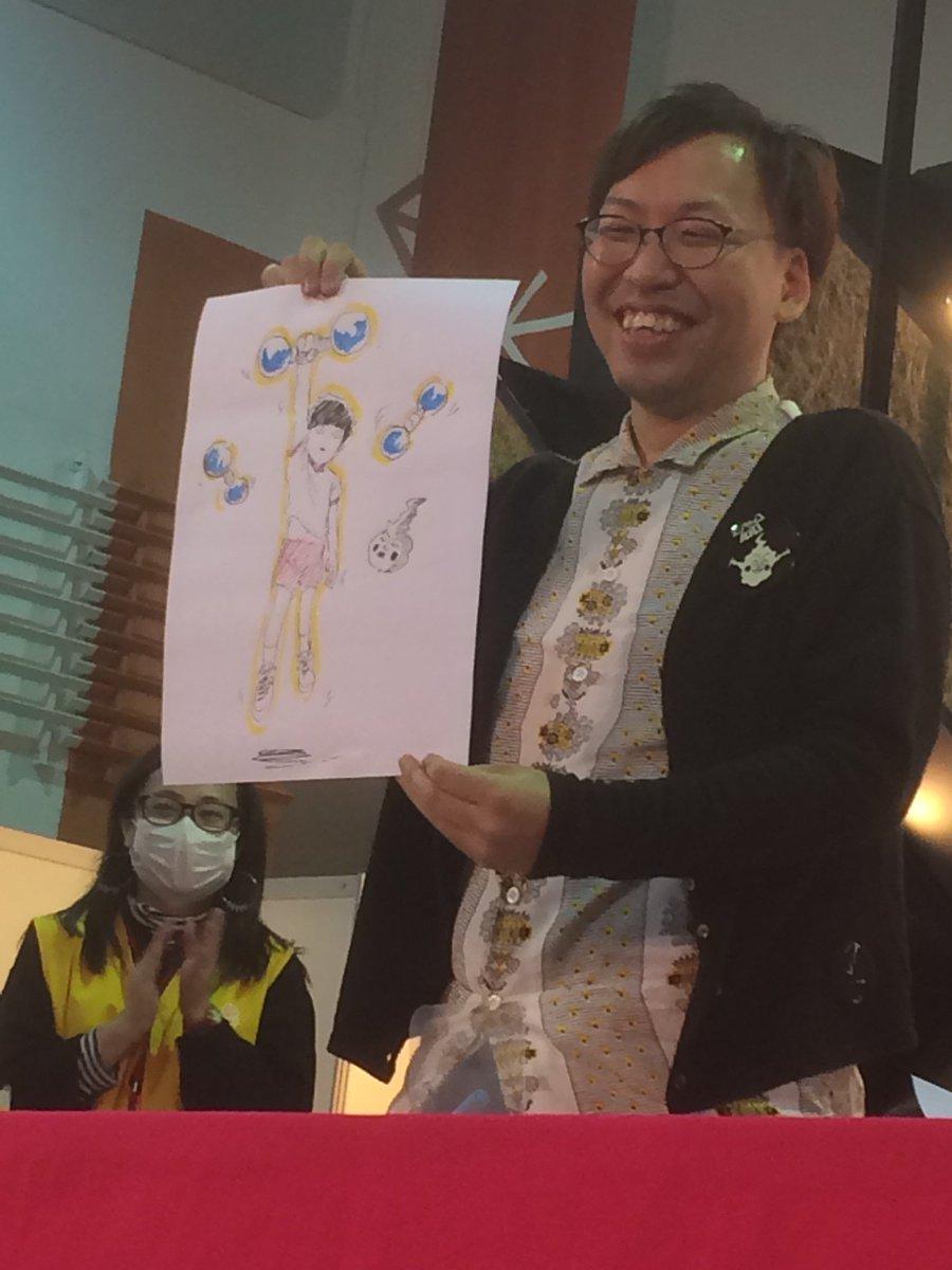 そして、亀田さんによる「超能力で筋トレするモブ」なんとカラー! 会場のお客さんから、拍手喝采を浴びま…