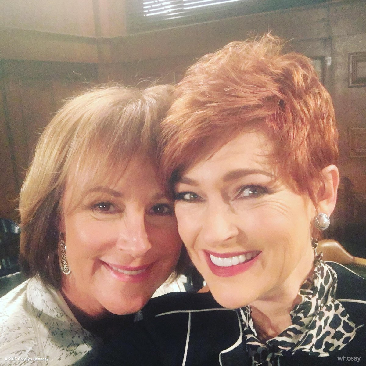 With Diane's new bestie and fellow legal, Nora Buchanan!!!  Someone's comin' to Port Charles!!! https://t.co/qytpGENnAo