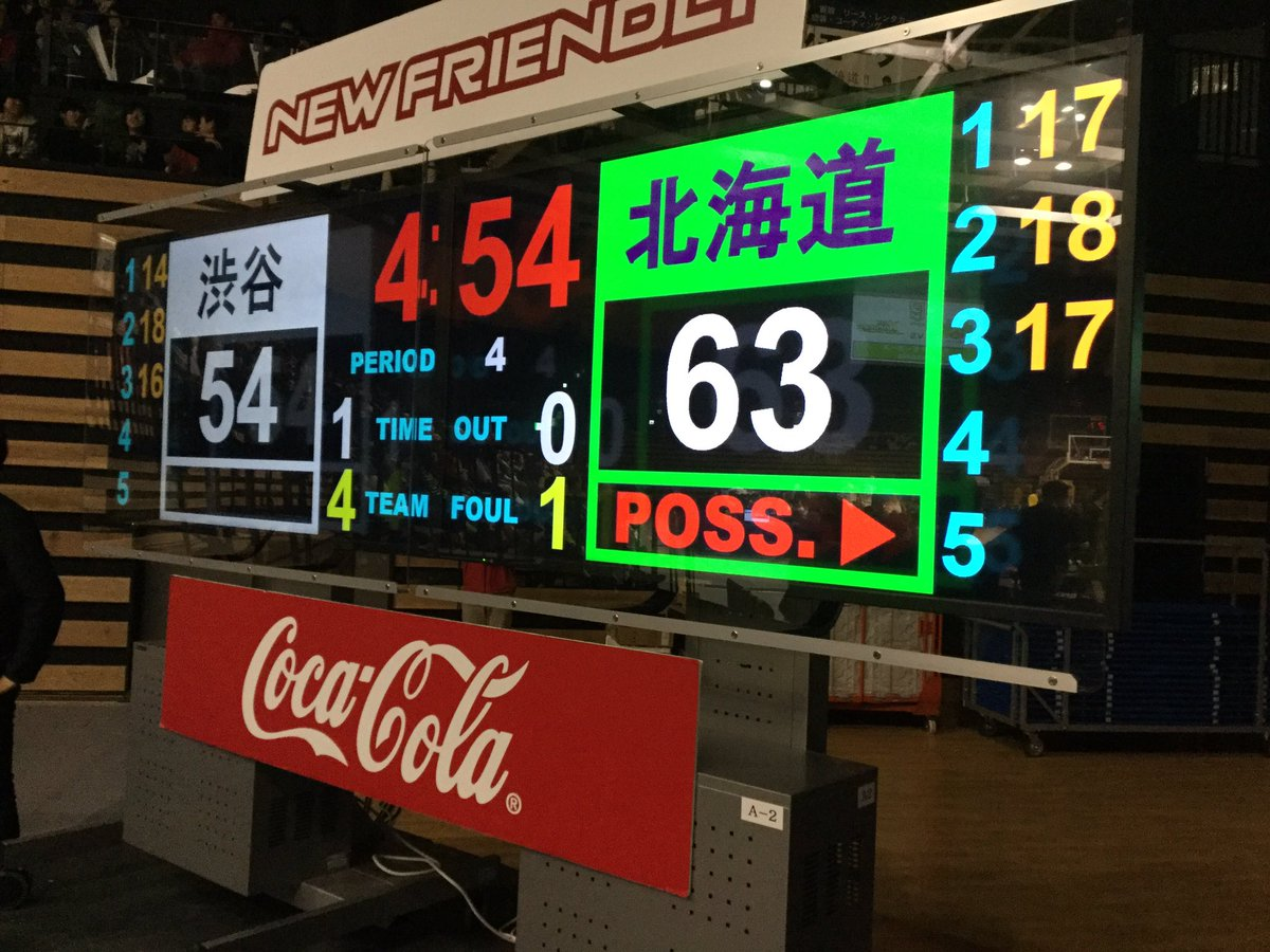 02/04(土) HOME GAME 第19節  vsサンロッカーズ渋谷  4Q残り 4:54  オ…
