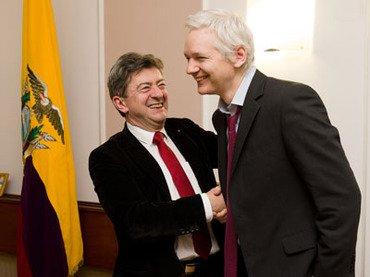 S&#39;il est élu PR en 2017 Jean-Luc #Mélenchon accordera la nationalité française à Julian #Assange, et l&#39;asile. #ElMundoConAssange #wikileaks<br>http://pic.twitter.com/4lSSjzbWEj