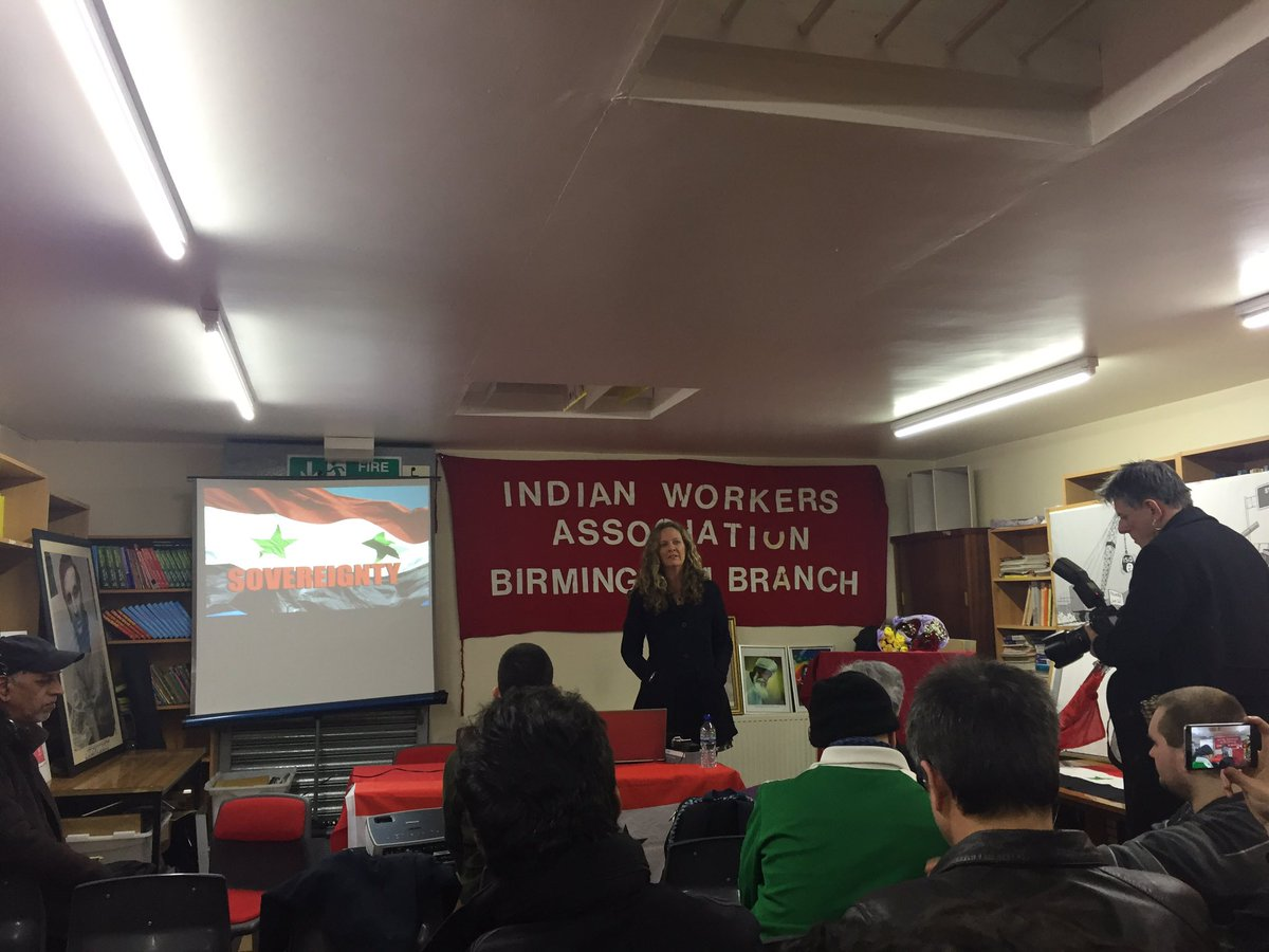 Thanks to @VanessaBeeley for very informative conference in Birmingham about what is really happening in #Aleppo and #Syria<br>http://pic.twitter.com/fTIvUMI4zO