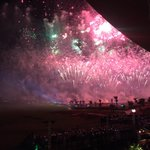Fireworks over the 18th hole at @TrumpGolfDubai! After years of hard work, we are officially open! @TrumpGolf