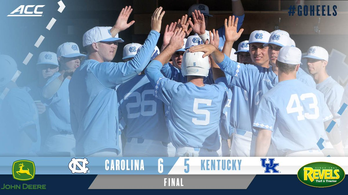 CAROLINA VICTORY! Hiatt picks up his second straight 4-out save and the Tar Heels hold on for a 6-5 win! Back tomorrow at 1. #GoHeels <br>http://pic.twitter.com/l3tWkUvEBo