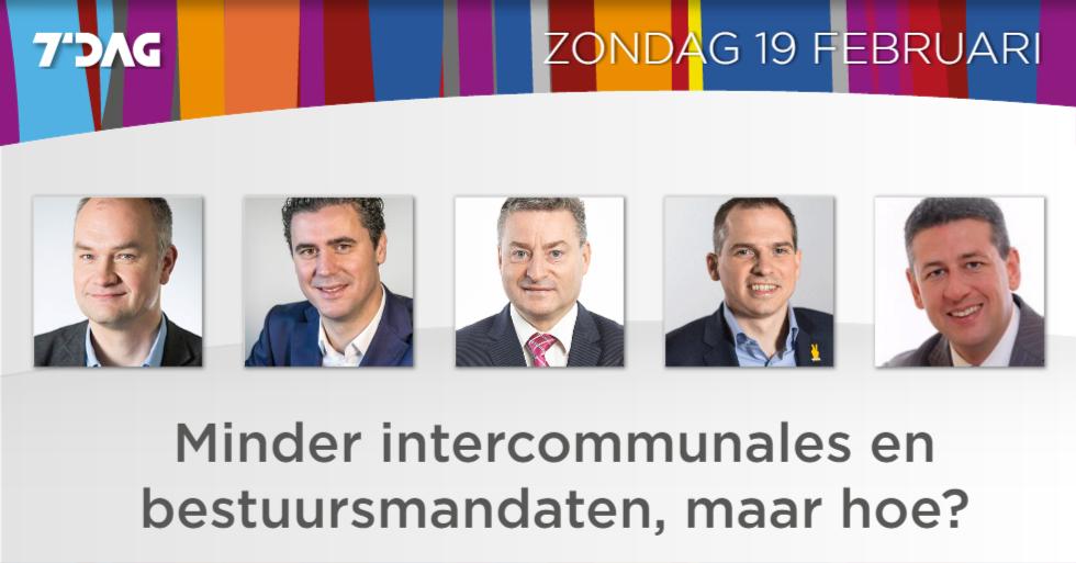 Vijf Vlaams fractieleiders debatteren erover.  #cumul #intercommunales...