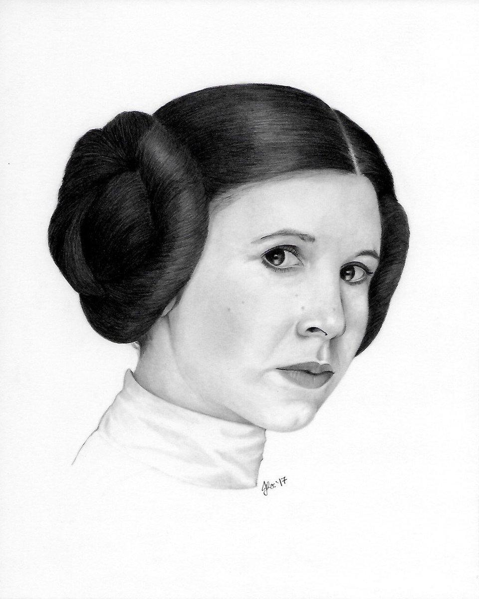 Long live the Princess!! #PrincessLeia #StarWars #drawing #pencil #art #CarrieFisher<br>http://pic.twitter.com/lnIrrHSNW9
