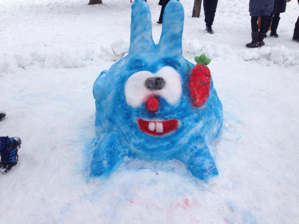 снежные фигуры пошагово с фото