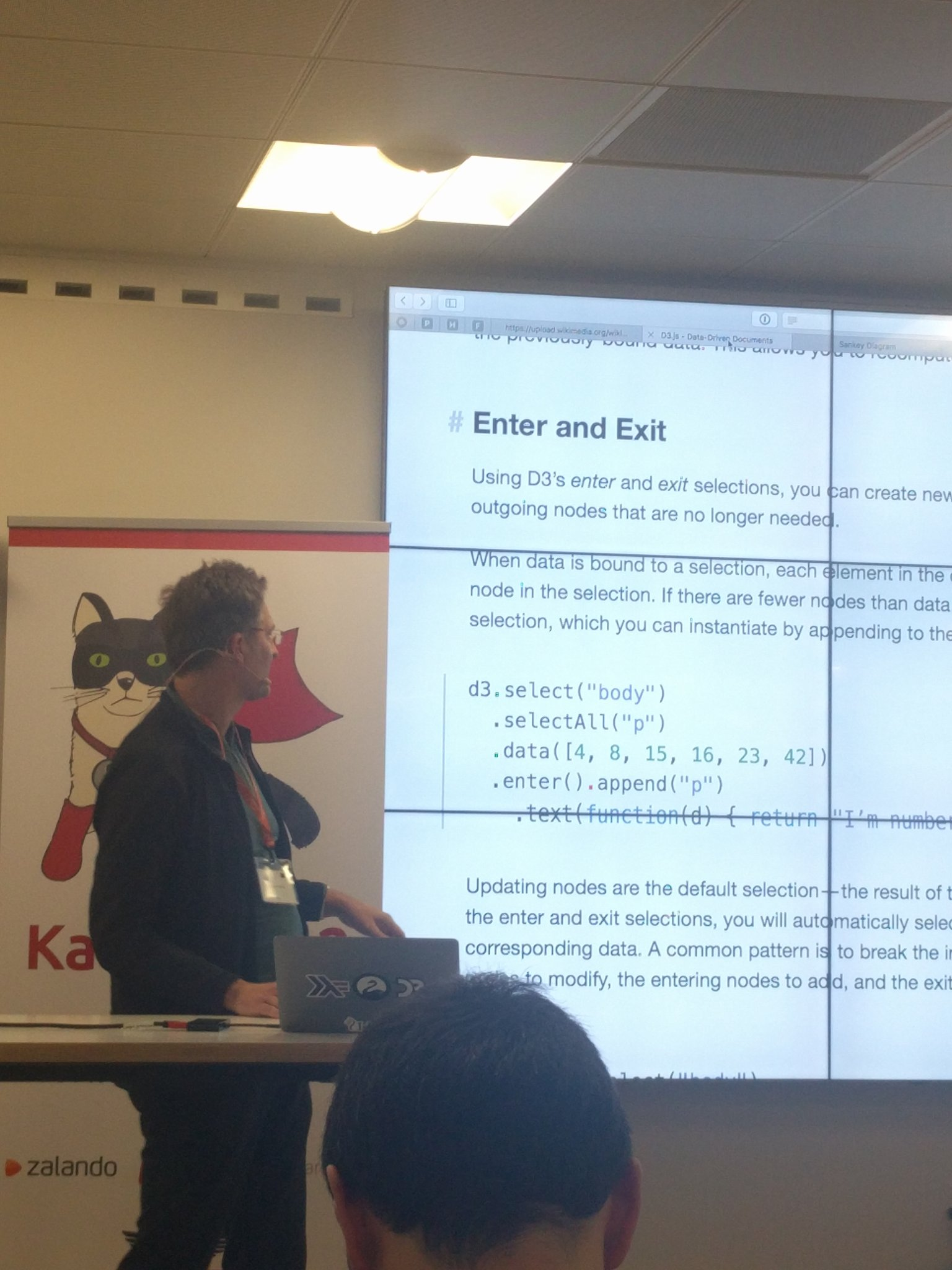 @afcondon showing his work on PureScript and D3 at #KatsConf2 👌 https://t.co/O586z8Tjtw