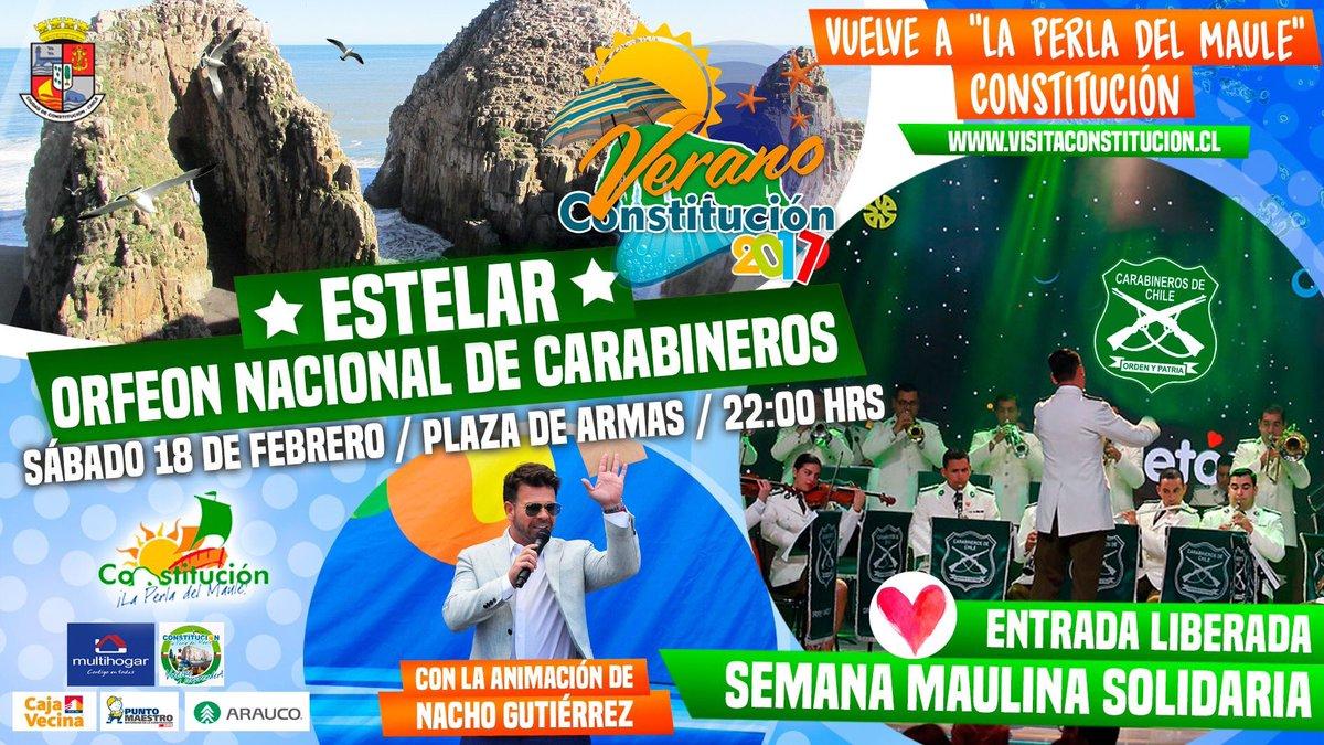 Con la animación de @gutierreznacho #OrfeónNacional de @Carabdechile será parte este sábado 18 de #Enero de #EstelarMusical en #Constitución<br>http://pic.twitter.com/96UsrAlS9p