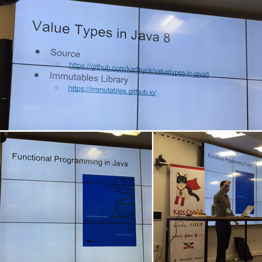 References from Karl for his lightning talk on Value Types in Java 8. #KatsConf2 https://t.co/R0aepC3Deh