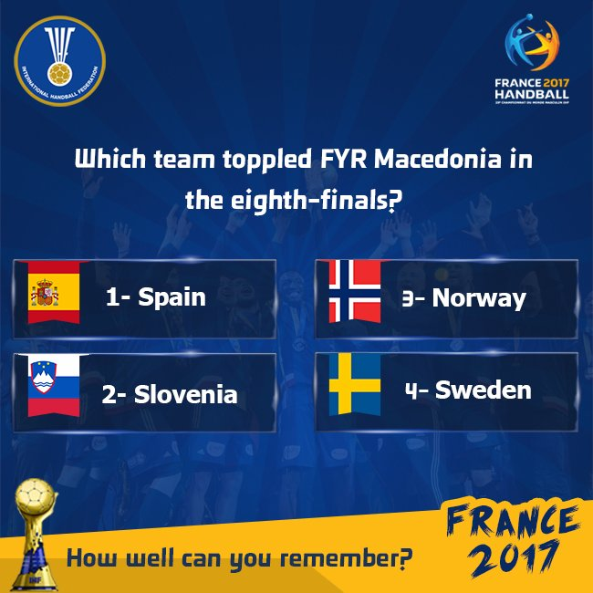 How well can you remember France 2017?   #Handball2017 #IHF #Handball <br>http://pic.twitter.com/OvxIagk6cw