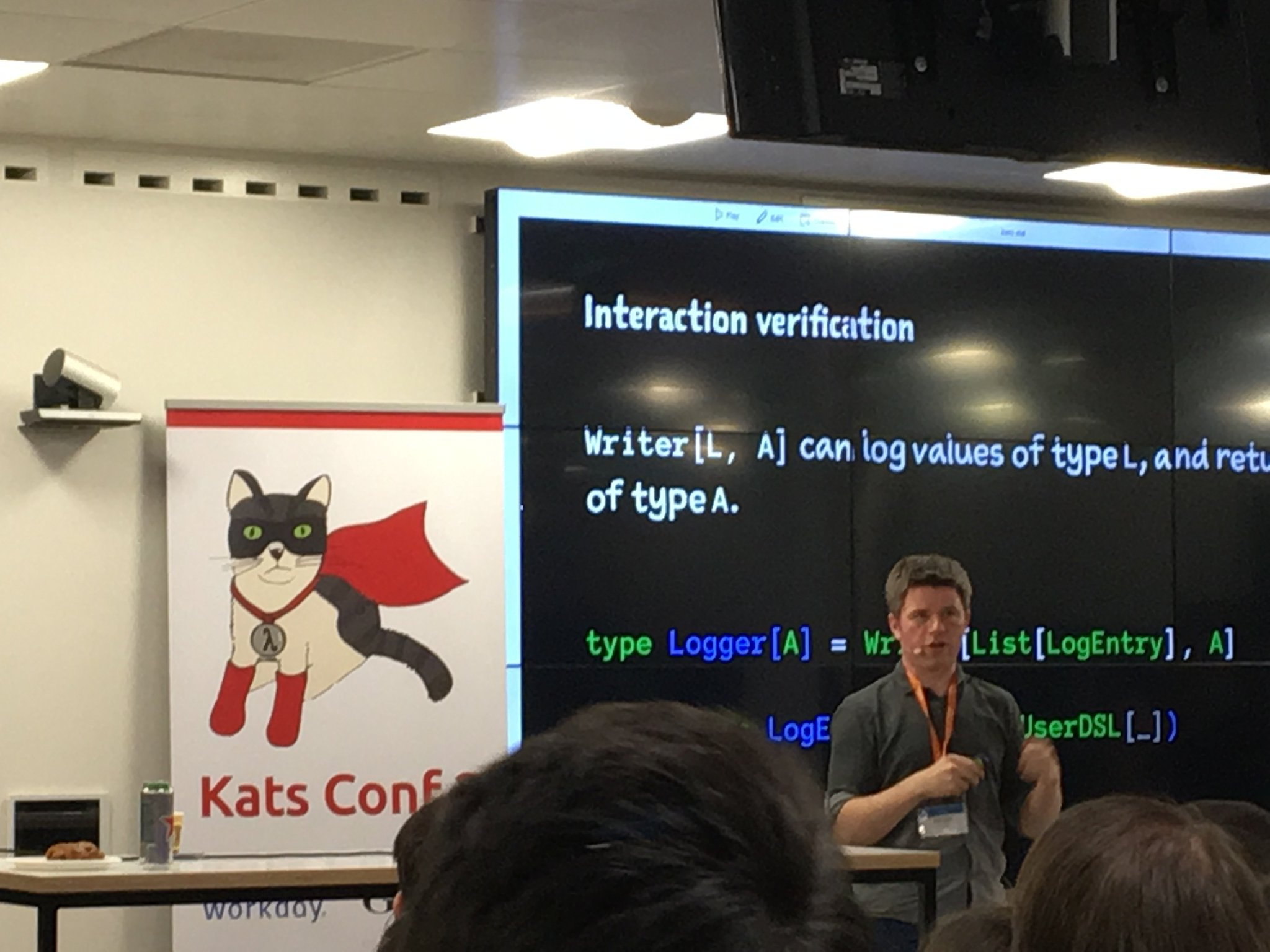 Who had 20:02 for the first Free Monad sighting at #katsConf2 ? @fiadliel totally lampshaded it! https://t.co/WmxseZm2ff