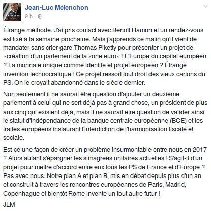 Étrange méthode... #Melenchon #Hamon #UE #JLM2017<br>http://pic.twitter.com/LBYGoAZYFS