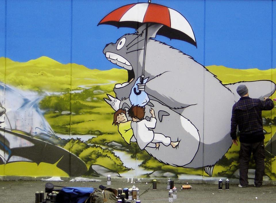 Totoro mural, Vitry-sur-Seine, France. #totoro #mural #urbanart #streetart #france #ghibli<br>http://pic.twitter.com/NoQrY1ItmV