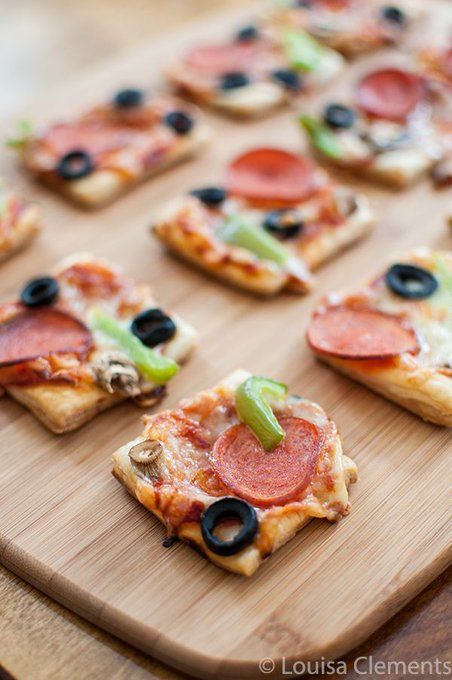 Puff Pastry Pizza Bites — Living Lou