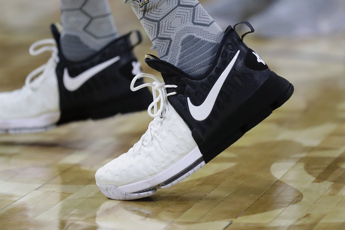 7a5d2394b87 a closer look at the nike zoom kd 9 bhm worn by kdtrey5 during nbaallstar  practice