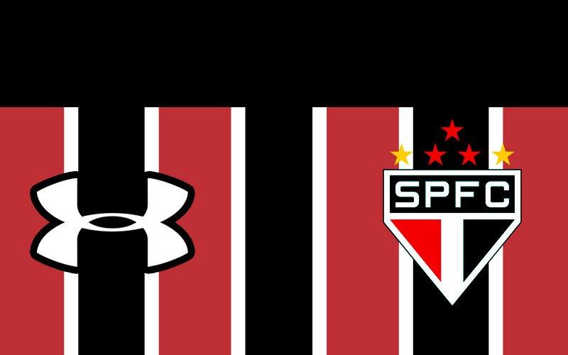 ... do São Paulo FC  http   www.mantosdofutebol.com.br 2017 02 camisa-reserva-listrada-sao-paulo-2017-under-armour-preto   …pic.twitter.com QDjSXRQ2Mt 7391c04832524