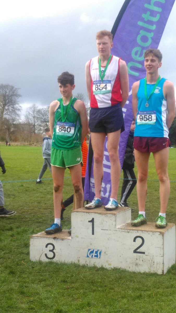 Well done to our athletes who competed in the Leinster XC last week. The Junior and Senior boys won Leinster titles.