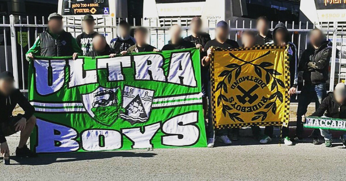 Hooligans News On Twitter Ultraboyshaifa With Stolen Banner Borussia Dortmund At Youth Champions League 07 02 2017 Maccabi Maccabihaifa Ultras Hooligans Https T Co Cjntlzp232