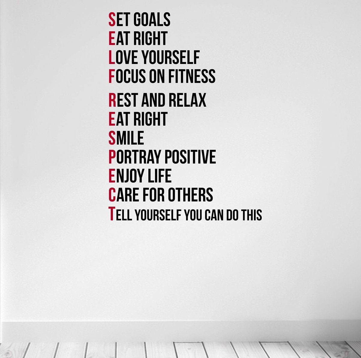 #WallArt #SELFRESPECT #Motivates Decal #Fitting #WellBeing  http:// ow.ly/wSeb3094atA  &nbsp;   <br>http://pic.twitter.com/W2OpU2ctKS #WednesdayWisdom #healthyandfit