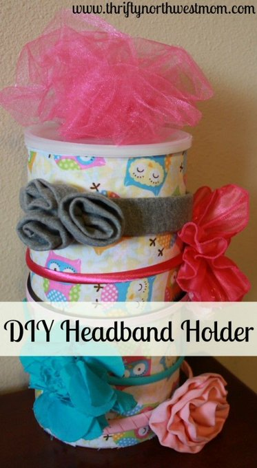 DIY Headband Holder using Oatmeal Container