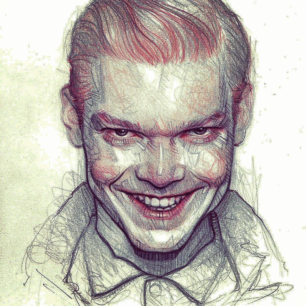 Menacing in every artform. #Gotham #FanArtFriday  : @subversivegirl<br>http://pic.twitter.com/8i2bRcAgWA