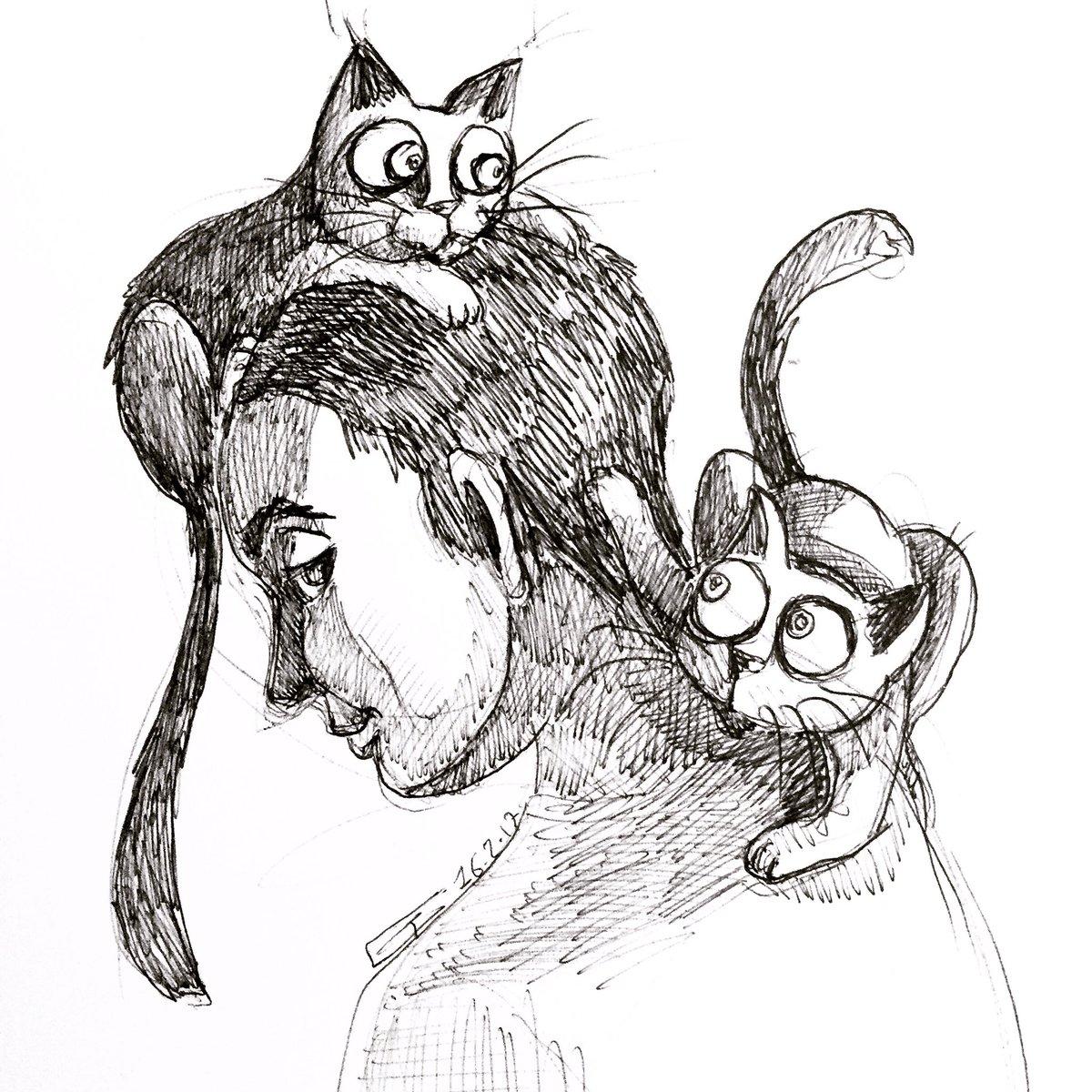 Des humains et des chatons #DessinDuJour <br>http://pic.twitter.com/aGAAnjtOFp