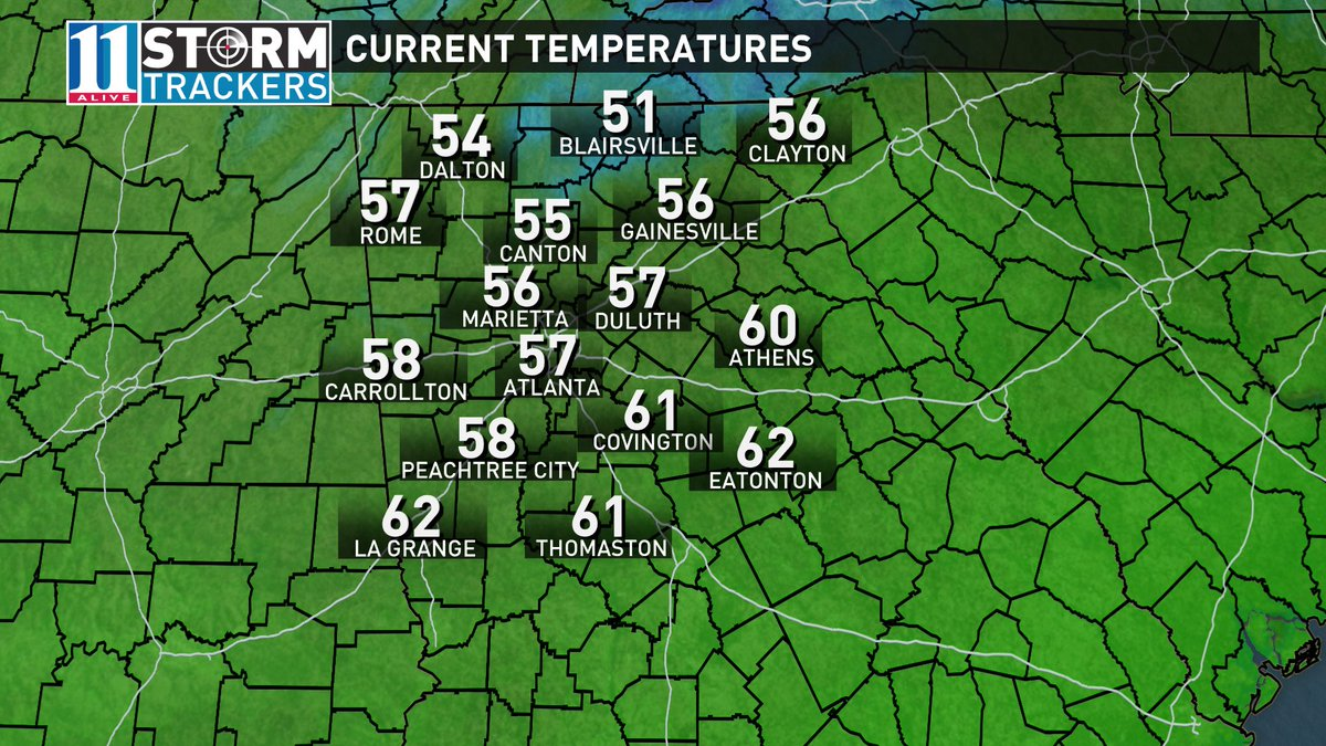 57 degrees just before 4pm. This is how it's SUPPOSED to feel this time of year. Avg high is 57 for today's date.