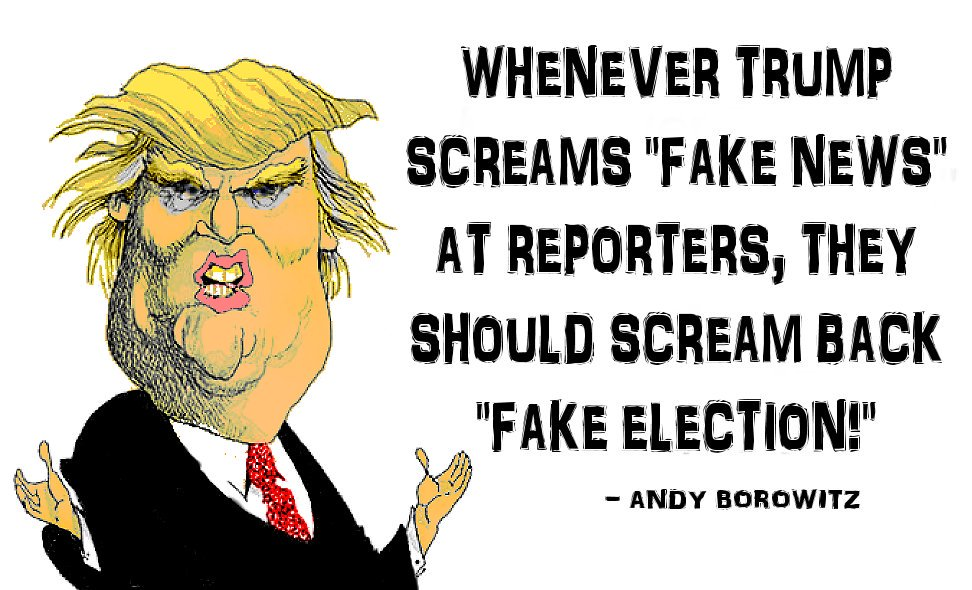 #TheResistance #TrumpPressConference  They need to start making use of this tactic whenever he spouts \